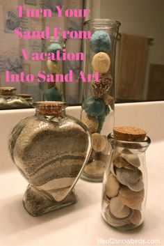 Beach Vacation Sand Art | Life Of 2 Snowbirds