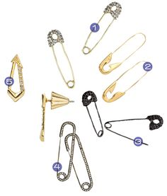 safety pin earrings, jewelry, safety pin, accessories