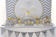 Yellow and gray elephant baby shower decorations light blue themed . yellow and gray elephant baby shower Bonbons Baby Shower, Idee Baby Shower, Elephant Baby Shower Favors, Baby Shower Sweets, Baby Shower Yellow, Baby Shower Table, Elephant Baby Showers, Baby Shower Cakes, Baby Shower Themes