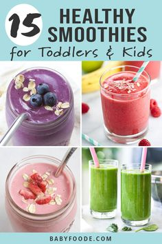 Toddler Smoothie Recipes, Toddler Smoothies, Baby Food Recipes, Smoothies For Toddlers, Baby Smoothies, Breakfast Low Carb, Breakfast For Kids, Breakfast Snacks, Breakfast Ideas