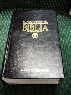Tagalog Pulpit and Family Bible / Tagalog Bible with Deuterocanonical Books / Magandang Balita Biblia May Deuterocaninico / Tagalog Popular Version TPV 063 DC Black Hardcover / SUPERLARGE PRINT
