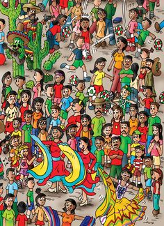 "Mexico page of ""Find the Cutes - Around the World"". The 1st book is for sale on Amazon and on www.findthecutes.com."