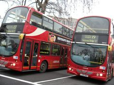 Routemasters buses, london