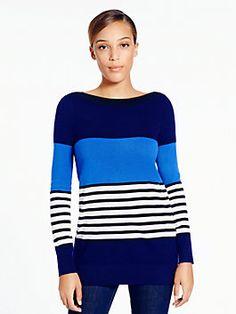 Amari sweater, rich navy multi from Kate Spade. Love! Love! Love!