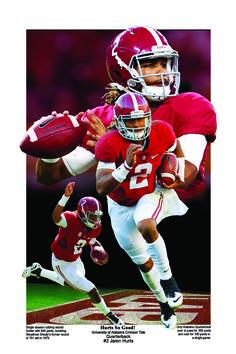 Jalen Hurts Alabama Football Quotes, College Football Teams, Football Helmets, Crimson Tide Football, Alabama Crimson Tide, Jalen Hurts, San Diego Chargers, Roll Tide, Sports Graphics