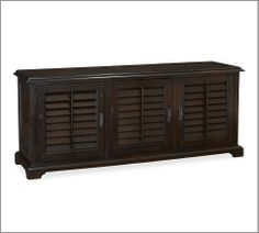 Holstead Shutter Large Media Console   Pottery Barn $1499