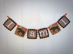 Moose Highchair Banner,I am 1,First Birthday,Smash Cake,ONE | Mia Sophias, Handmade High Quality Party Decor & Photo Props