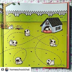 #Repost @homeschoolchat   The end papers from Pug Meets Pig. I can't take all the cuteness!  @wanartstudio  ________  #raisingreaders #picturebook #picturebooks #childrensbooks #kidlit #readaloud #readaloudrevival #homeschool #homeschooling #librarybook