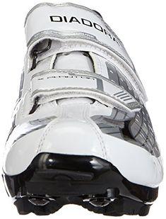 Diadora X PHANTOM, Unisex-Erwachsene Radsportschuhe – Mountainbike, Weiß (silber/weiß/schwarz 45 EU - 4 Unisex, Self, Bicycle Helmet, Chain