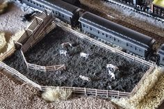 Cattle pen and loading ramp
