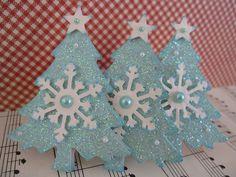 https://flic.kr/p/945Ydq   Blue Glittery Christmas Trees   Handmade by me. TFL :)