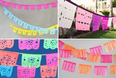DIY paper banners for Cinco de Mayo | How About Orange