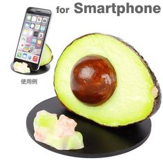 Realistic Food Smartphone Stand Holder Desk Accessory (Avocado) #UnbrandedGeneric