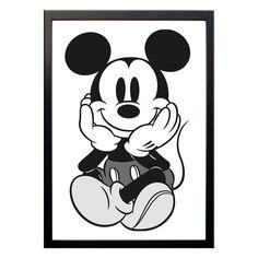 Uma imagem realmente vale mais que mil palavras, então por que não registrar em sua casa momentos inesquecíveis? O pôster é ideal para enquadrar fotos e decorar a sala, quarto ou escritório podendo ser facilmente combinado, conferindo personalidade ao ambiente. <br> <br>Material: Moldura em MDF laminado com vidro <br>Cor: Preto <br>Pôster: Impresso no papel Vergê na cor Branca <br>Tamanho: A4 Wallpapers Tumblr, Cute Wallpapers, Mickey Mouse, Wallpaper Iphone Cute, Disney Wallpaper, Disney Minimalista, Poster Digital, Decoupage Vintage, Disney And More