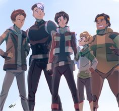 """thebestlaurenmontgomery: """"http://scamwich.deviantart.com/art/Them-Voltron-Boys-609241159 A sweet piece of fan art from Scamwich on deviantart. He's not on tumblr so I got his permission to post this up here for all to see. I love seeing fan art of..."""