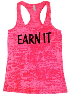 Workout Clothes EARN IT Women's Workout by AbundantHeartApparel