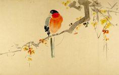 Parrot(?) on a Branch, Harvard Art Museums/Arthur M. Sackler Museum.
