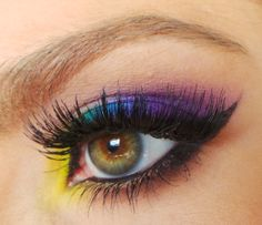 Rainbow eyes using Urban Decay Electric Palette by Shaaanxo