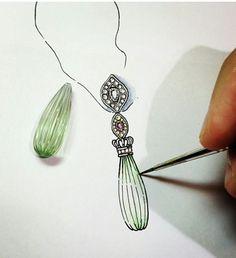 I love sketching jewelry ideas. :)