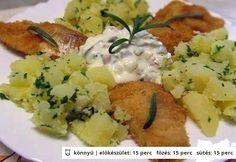 Halfilé almaraguval Potato Salad, Potatoes, Chicken, Ethnic Recipes, Food, Potato, Essen, Meals, Yemek
