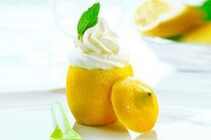 Clean Eating Lemon Frozen Yogurt (honey sweetened)