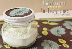 Simple air freshener in a cute jar.