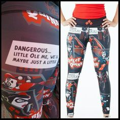 Harley Quinn leggings, super hott! Exclusive and once they're gone they're gone…