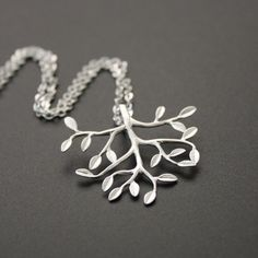 Silver Tree Necklace by JewelryDeli on Etsy, $23.00