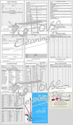 custom house cleaning business forms to increase profits and grow a residential cleaning business