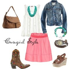 Cowgirl style, created by cady-lee on Polyvore    Bead Bracelet at http://www.silvertribe.com/Bead-Bracelets