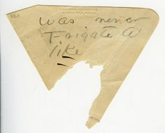 Emily Dickinson wrote her poems on scraps of paper. When she had finished drafts, she copied them onto larger sheets, which she sewed into booklets.