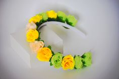 Flower headband, headband, women headband, flower crown, hard headband, hairband by SpringFlowerBoutique on Etsy