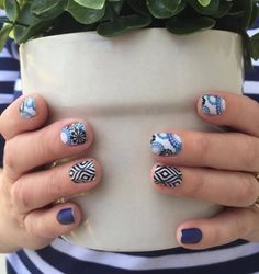 Completely in love with this week's #TBT #jamberry #nailbesties #bundle you guys isn't #bluemodernflowerjn amazing?  Available 6/24-6/27 at fabulousfingers.net #vegan #veganbeauty #notd #notw #bluefloralmanicure