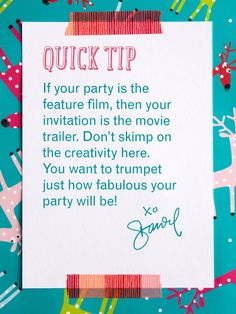 Ooooh I'm going to make a trailer invitation!!!