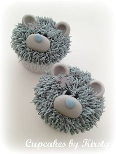Tatty Teddy Cupcakes by Kirsty - For all your cake decorating supplies, please… Cupcake Torte, Baby Cupcake, Cupcake Cookies, Cupcake Wrappers, Monster Cupcakes, Animal Cupcakes, Bear Cupcakes, Tatty Teddy, Halloween Cupcakes