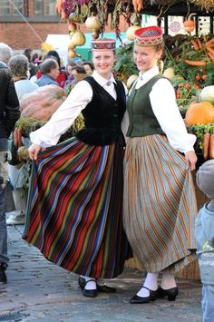 Latvian folk costumes Riga, We Are The World, People Of The World, Folk Costume, Costume Dress, Costumes Around The World, Folk Dance, Ethnic Dress, Ethnic Fashion
