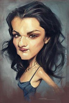 Caricatura de la preciosa actriz Inglesa Rachel Weisz, realizada por el artista Jeff Stahl.     Ra...