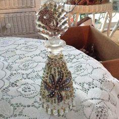 Jeweled perfume bottle by cindysvictorian on Etsy