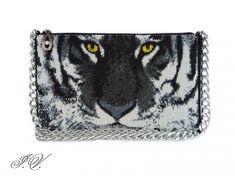 """Клатч """"White Tiger""""   biser.info - всё о бисере и бисерном творчестве"""
