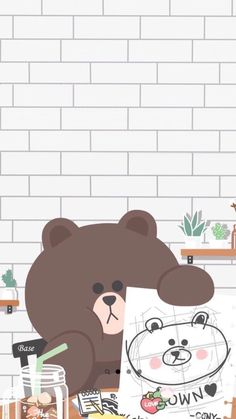 Discovered by ป่านแก้ว. Find images and videos about cute and wallpaper on We Heart It - the app to get lost in what you love. Cute Pastel Wallpaper, Soft Wallpaper, Bear Wallpaper, Kawaii Wallpaper, Lines Wallpaper, Cute Wallpaper Backgrounds, Tumblr Wallpaper, Galaxy Wallpaper, Wallpapers Kawaii