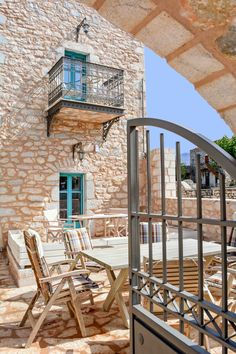 About a year ago, an old building of 1858 was transformed into a olea traditional guesthouse that combines all contemporary comforts. Old Building, Greeks, Traditional, Contemporary, Country, House, Rural Area, Home, Country Music