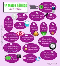 17 malos hábitos en el trabajo #infografia #infographic #rrhh