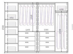Wardrobe Closet Design Guidelines & Rules - All About Wardrobe Room, Wardrobe Design Bedroom, Master Bedroom Closet, Modern Wardrobe, Wardrobe Basics, Bedroom Cupboard Designs, Bedroom Cupboards, Wardrobe Door Designs, Closet Designs