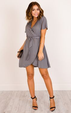 a5cb48c42e1 We are loving the wrap look and tied waist!