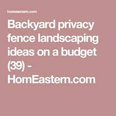 Backyard privacy fence landscaping ideas on a budget (39) - HomEastern.com