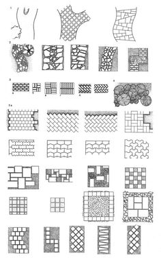 Quick And Easy Landscaping On A Budget - House Garden Landscape Architecture Drawing Sketchbooks, Landscape Architecture Drawing, Architecture Concept Drawings, Landscape Sketch, Landscape Design Plans, Garden Design Plans, Landscape Drawings, Architecture Plan, Paving Pattern