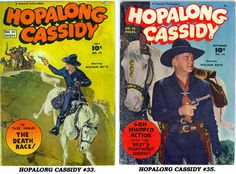 Covers to HOPALONG CASSIDY #33 and #35.