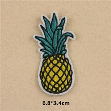 1 Pcs Fruit Pineapple Embroidered Patches Iron On Patches Sewing Applique Badge Clothes Patch Stickers Apparel Craft Accessories(China (Mainland))