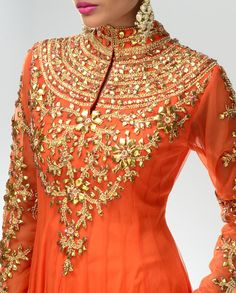 Pakistani Gota Work Latest Designs 2015 – New Trends in Fashion Indian Attire, Indian Ethnic Wear, India Fashion, Asian Fashion, Women's Fashion, Indian Dresses, Indian Outfits, Pakistani Dresses, Moda India