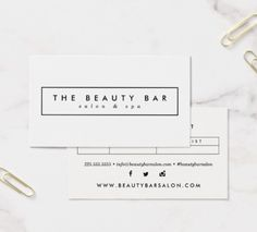 Fresh White Appointment Business Cards for Salons, Hair Stylists, Dentists, Lash Clients, and more!